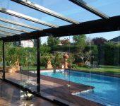 cortina cristal piscina